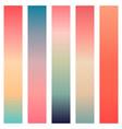 coral color gradients vector image vector image