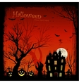 creepy halloween background vector image