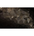 dark polygonal background vector image