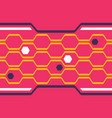 digital honeycomb seamless pattern vector image vector image