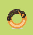 donut cake vector image vector image