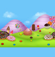 fantasy sweet city land vector image