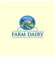 farm dairy logo vector image