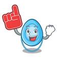 foam finger oxygen mask mascot cartoon vector image