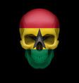 ghanian flag skull vector image vector image