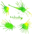 Green watercolor splash blots vector image vector image