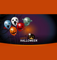 happy halloween banner design of balloon vector image