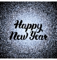 Happy New Year Silver Design vector image