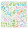 Homeopathy text background wordcloud concept vector image vector image