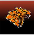 horus head esport mascot logo vector image