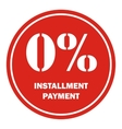 Icon payment installment red round border vector image