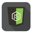 icon web shield node framework - isolated vector image vector image