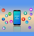 iot web banner wireless network and communication vector image vector image