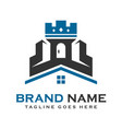 logo castle house vector image