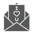 love letter glyph icon love and valentine vector image vector image