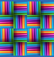 mat seamless pattern with rainbow color vector image