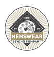 menswear company vintage isolated label vector image vector image
