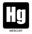 mercury hg chemical element icon vector image vector image
