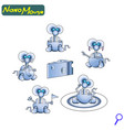 modern nano robot mouse iron cute friendly the vector image