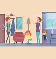 nanny joyful preschool kids invite babysitter vector image vector image