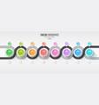 navigation map infographic 8 steps timeline vector image vector image
