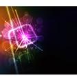 neon lights design vector image vector image