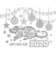 new year congratulation card with numbers 2020 vector image vector image