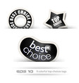 Paper Style BEST CHOICE tags vector image