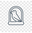 parrot concept linear icon isolated on vector image