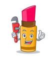 plumber lipstick character cartoon style vector image vector image