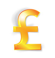 Pound currency signs isolated vector image