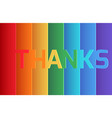 rainbow thank you origami paper layer card vector image vector image