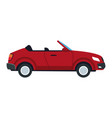 red convertible car sport luxury elegant vehicle vector image