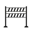 roadblock icon vector image