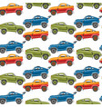 seamless pattern background luxury car vector image vector image