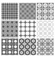 seamless pattern repeating geometric squares vector image vector image