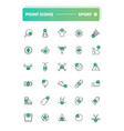 set 30 line icons sport and recreation vector image