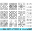 Set of 25 abstract geometric patterns zz vector image vector image