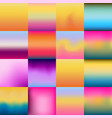set of colorful gradient textures vector image