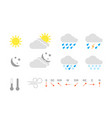 set weather icons for mobile application vector image