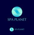 spa planet logo water emblem waves vector image