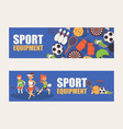 sport pattern sportsman people character vector image vector image