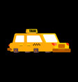 taxi isolated yellow car transportation of people vector image vector image