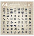 technology multimedia symbols set vector image vector image