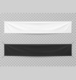 textile banners black and white blank horizontal vector image vector image