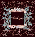 thank you card with eucalyptus vector image