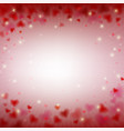 valentines day card with romantic light and heart vector image