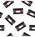 vhs tapes seamless pattern vector image vector image