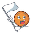with flag cookies mascot cartoon style vector image vector image
