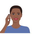 woman talking on the mobile phone vector image vector image